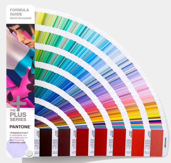 This is what a Pantone color book looks like