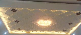 Plafon variasi dropceiling dengan lampu