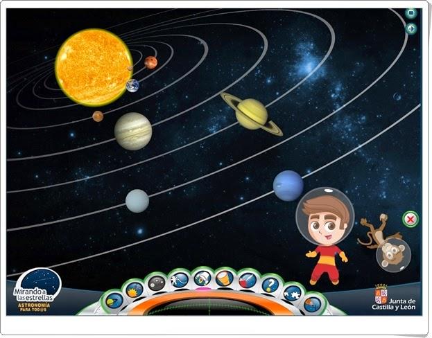 """""""Mirando a las estrellas"""" (Aplicación interactiva de Astronomía de Educación Primaria)"""