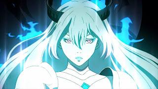 Amira jako demon o jednym skrzydle