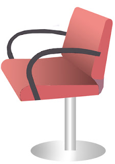 Hairdresser's chair clipart