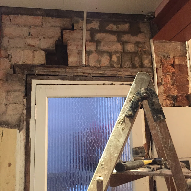 rebricking above a door