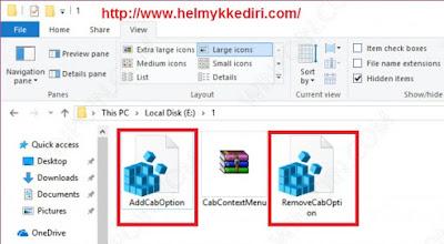 Cara install file CAB dengan mudah