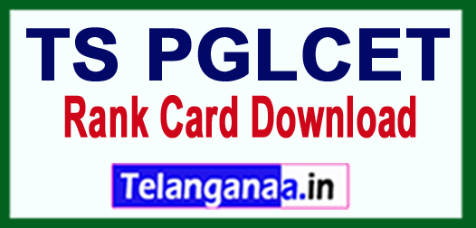 TS PGLCET Results 2018 Rank Card Download