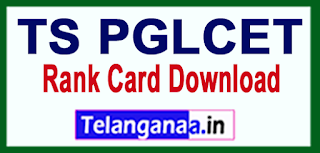 TS PGLCET Results 2017 Rank Card Download