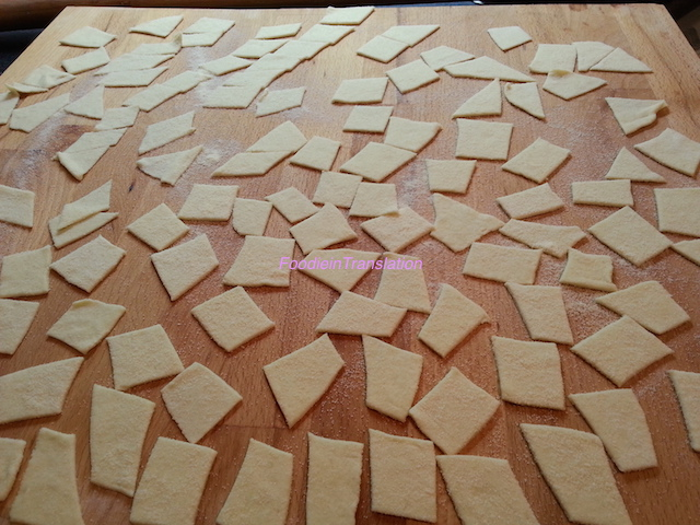 Maltagliati alla semola - Durum wheat flour maltagliati