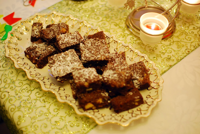 Christmas Chocolate Brownies Dessert Dinner Lunch Ideas Food Blog