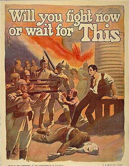 a description of australia who joined the first world war