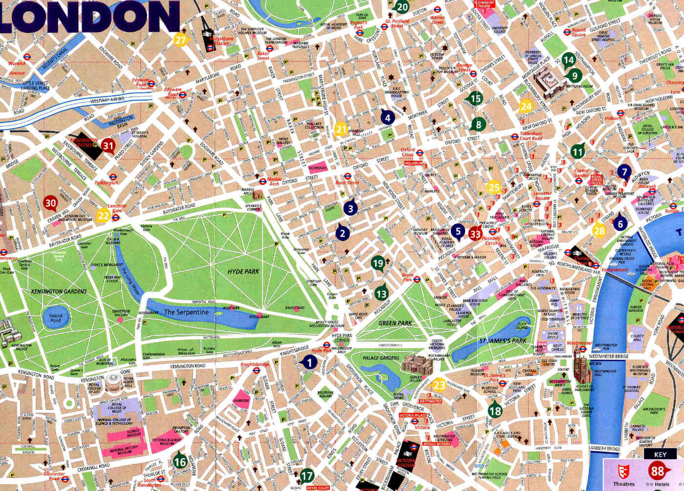 London Map Central.London City Map