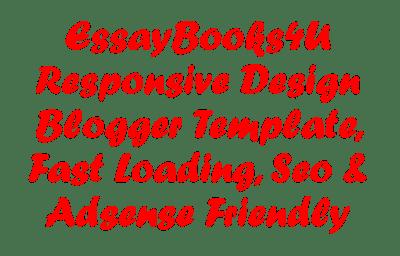 EssayBooks4u Responsive Premium Design Blogger Template