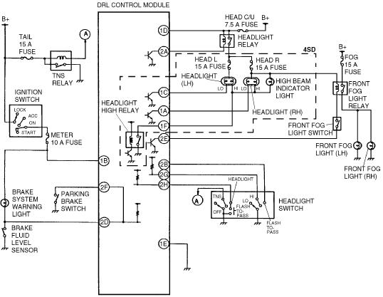 1993 Ford Taurus Daytime Running Light Wiring Diagram ~ Guide Handbook Manual