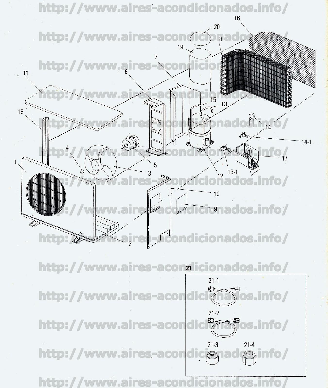 despiece de aire acondicionado tipo split aires acondicionados Curso De Aire Acondicionado Aire Acondicionado En Ingles