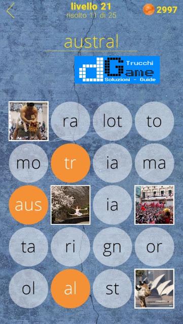 650 Parole soluzione livello 21 (1 - 25) | Parola e foto