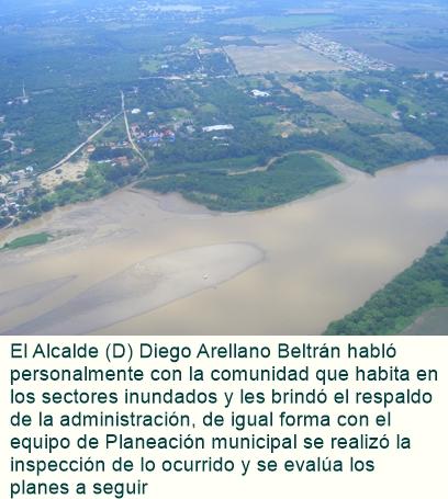 En RICAURTE: Aguas del rio magdalena aumentaron su caudal