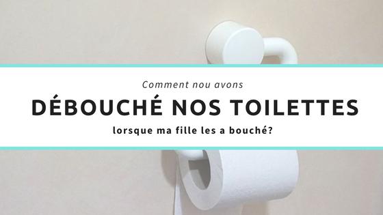 Comment nous avons débouché nos toilettes lorsque ma fille les a bouché?
