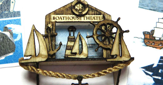 New Quarter Scale 1:48 kit, Nautical Shelf and Boathouse Theater