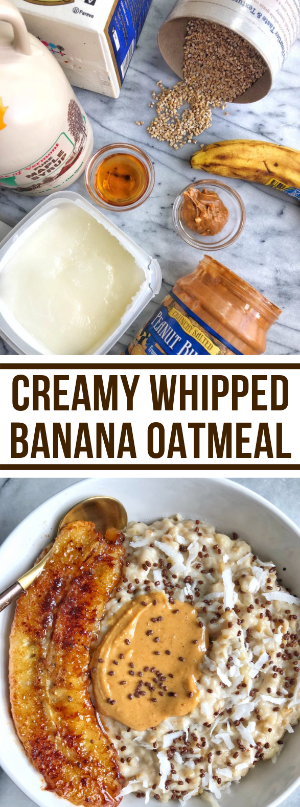 Creamy Whipped Banana Oatmeal #healthy #glutenfree