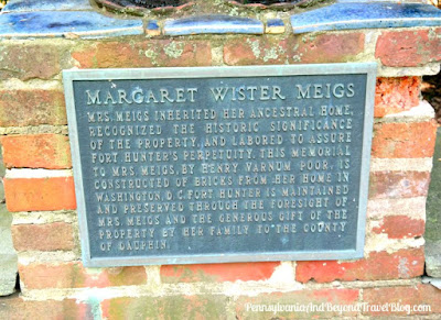 Margaret Wister Meigs Historical Marker at Fort Hunter in Harrisburg Pennsylvania