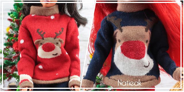 """Pull de Noël """"moche """" pour Barbie"""