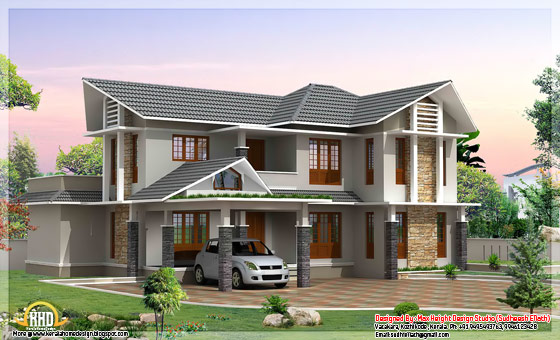 2420 Square feet 4 BHK double storey house - May 2012