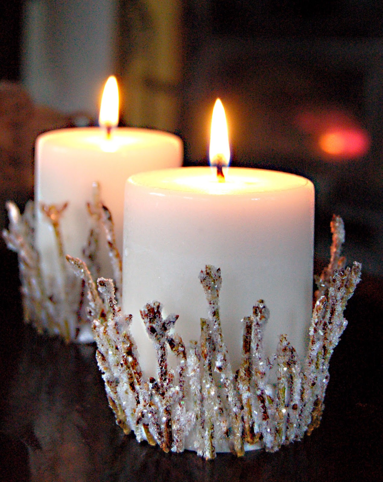 Facci designs diy twinkling twig candle holder for Candle design for debut