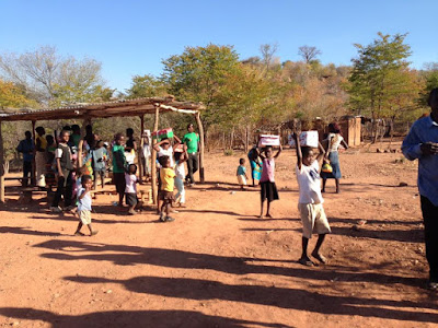 Children in Zambia receive Operation Christmas Child shoeboxes.