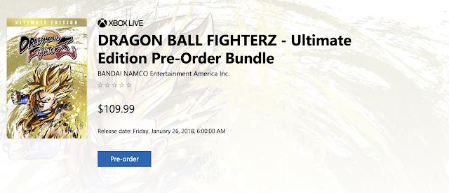 Dragon Ball FighterZ llegará el 26 de enero con pase de temporada