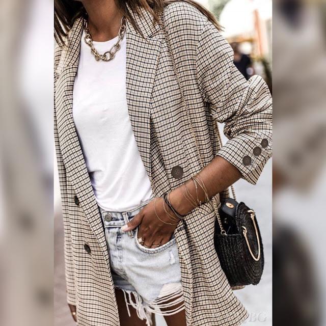 Γυναικείο  χρωματιστό σακάκι THELMA