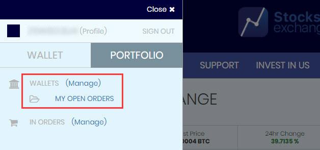 Stocks.Exchangeにビットコインを送金する