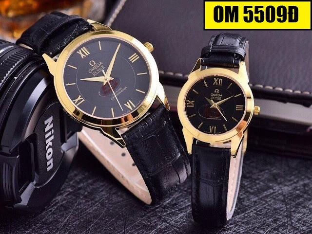 Đồng hồ cặp đôi dây da OM 5509Đ