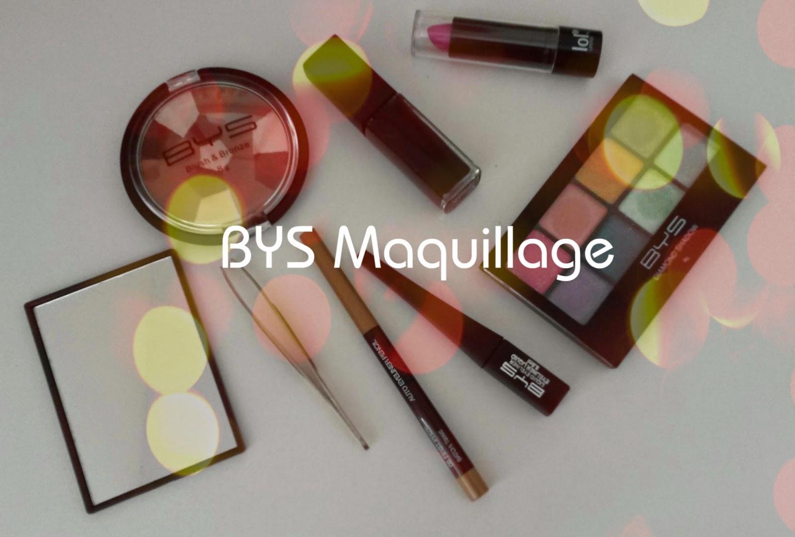 J'ai testé : la marque BYS maquillage
