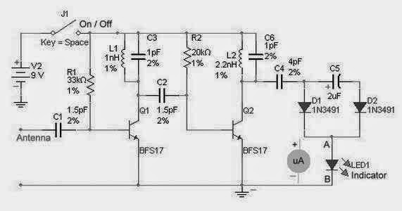 RF Detector Circuit For High Frequency