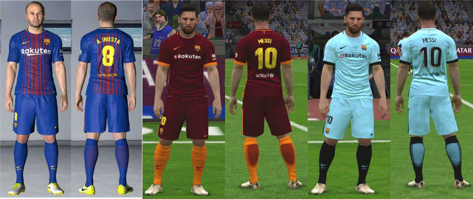 Ultigamerz: PES 2017 New Kits-Pack Barcelona 2017-18