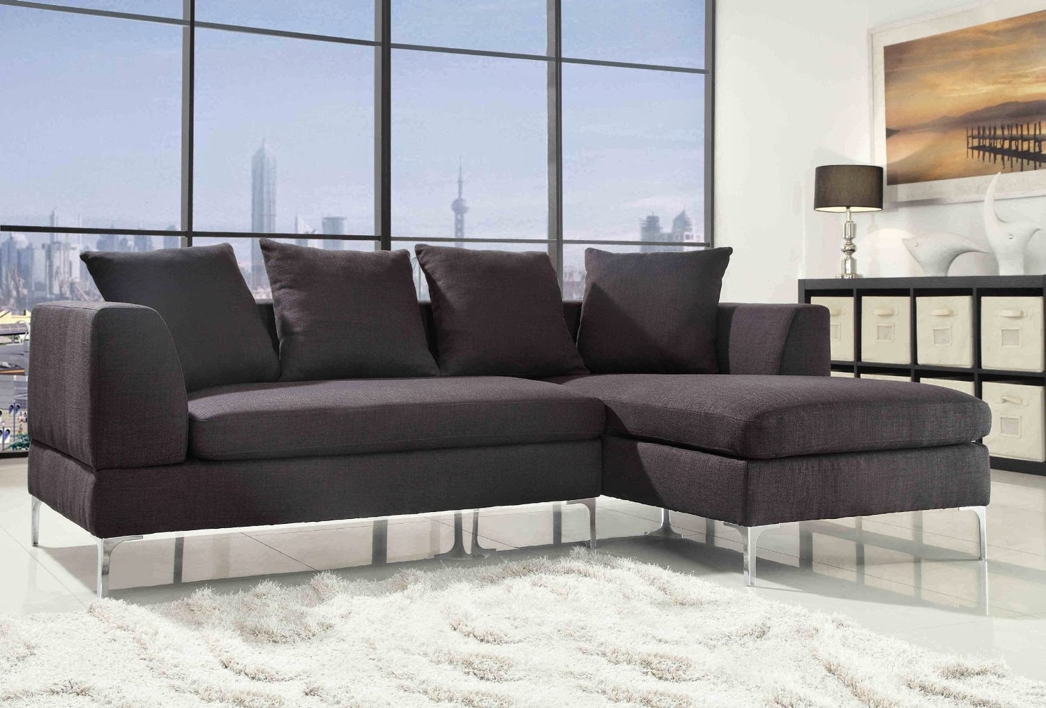 Couch with chaise sectional couch with chaise lounge for Couch with 2 chaise lounges