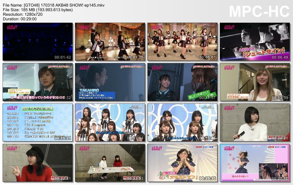 170318 AKB48 SHOW! Ep 145 Subtitle Indonesia - GTO48SUB