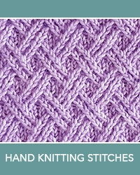 Learn Double Lattice Twist Pattern with our easy to follow instructions at HandKnittingStitches.com