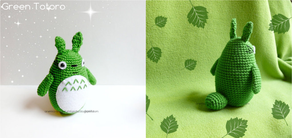 totoro verde amigurumi  plush