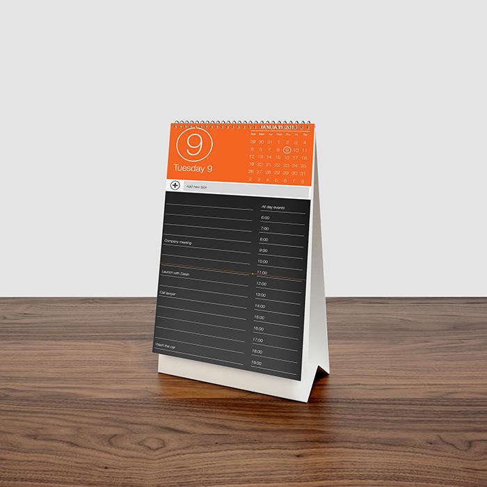 Download Mockup Kalender PSD Terbaru Gratis - Desk Calendar MockUp Free
