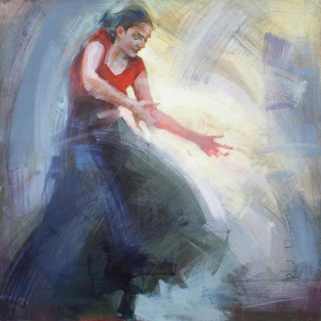 "Flamenco, Tango, Expressive Figurative Paintings By ""Renata Domagalska"""
