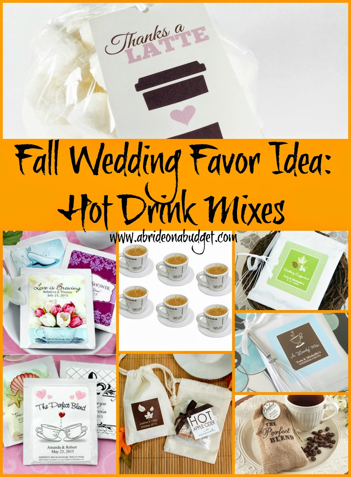 archive fall wedding favors fall wedding favor idea A hot drink is PERFECT for a cold night So if you re having