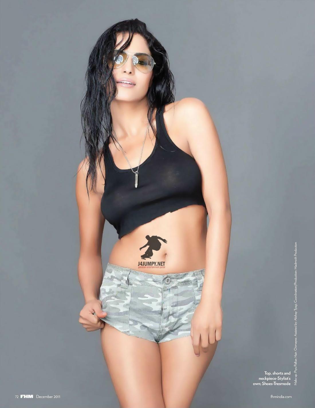 Latest Movie Masala Veena Malik Semi Nude Photos In Fhm -8268