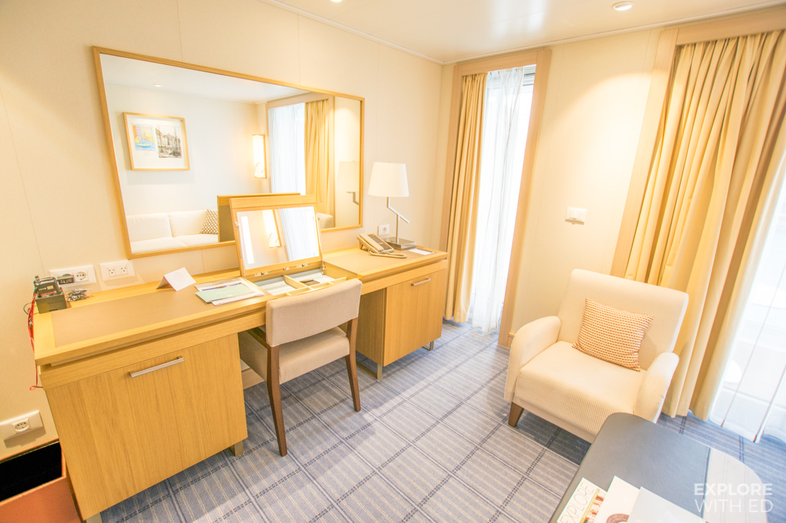 Viking Sea Penthouse Veranda desk and vanity unit