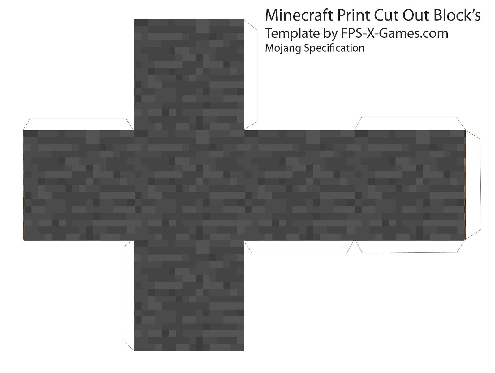 Furnace minecraft furnace printable papercraft template.