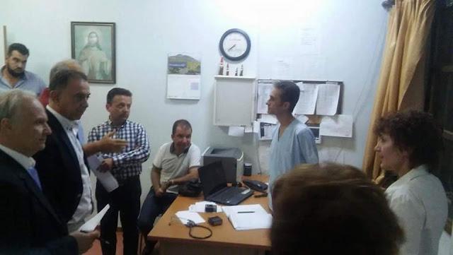 Επίσκεψη Ανδριανού και Κέλλα  στο Κέντρο Υγείας Κρανιδίου και συνάντηση με εκπροσώπους του Δήμου Ερμιονίδας για το ΙΚΑ
