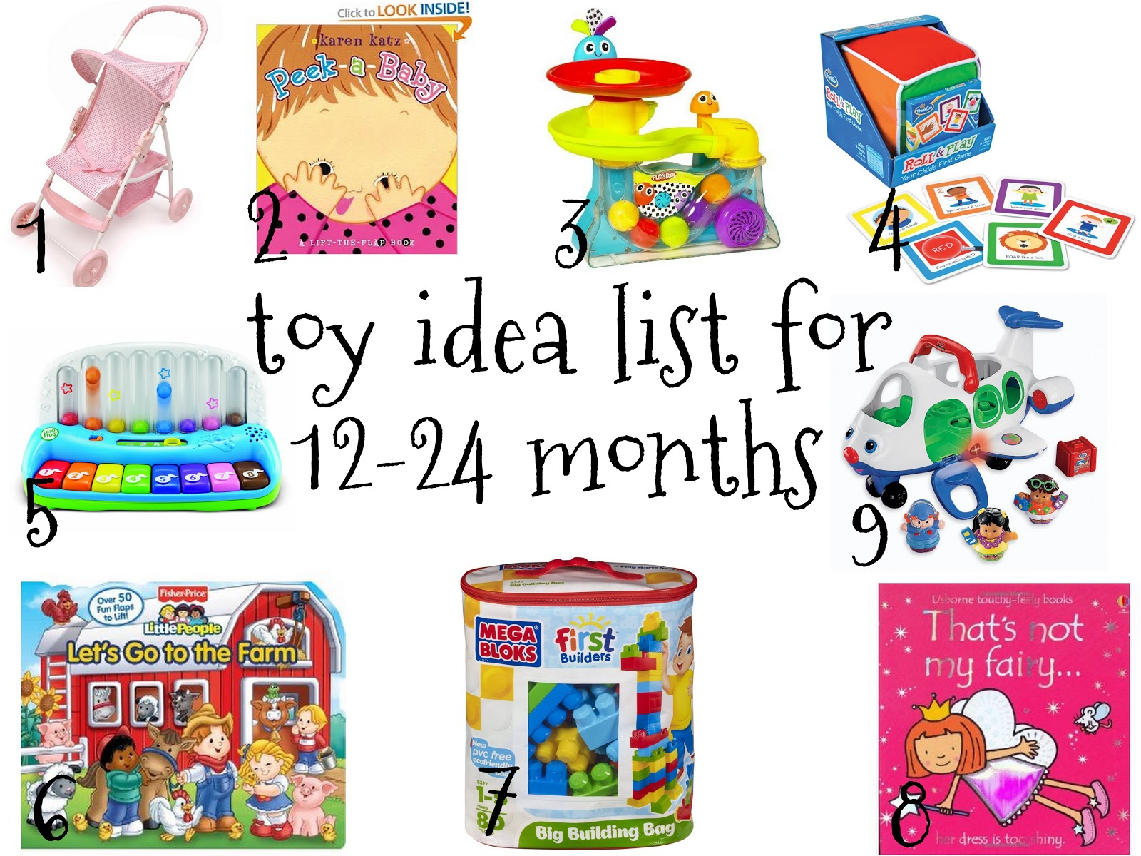 Favorites and Things Gift Ideas For 12 24 Month Old Children