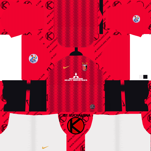 17b03698393 Urawa Red Diamonds 浦和レッドダイヤモンズ kits 2019 - Dream League ...