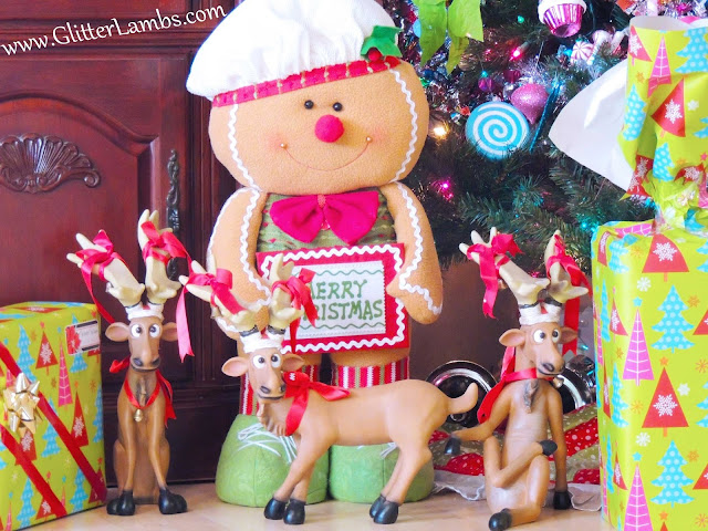 Gingerbread Boy Reindeer Resin Statue Deer Christmas Props Branson Missouri Hobby Lobby