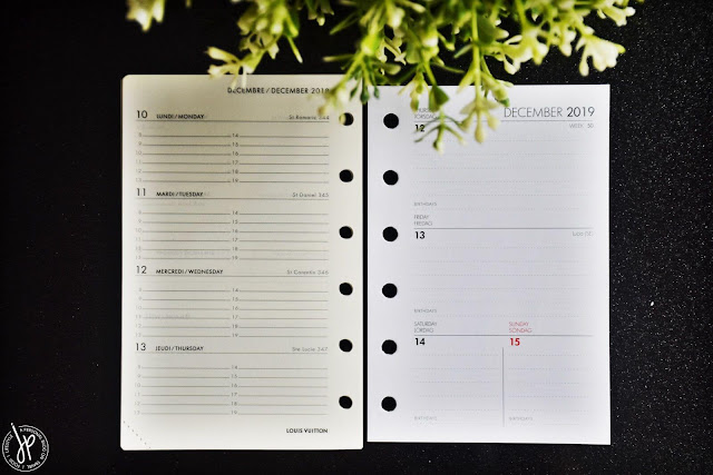 planner pages - weekly view
