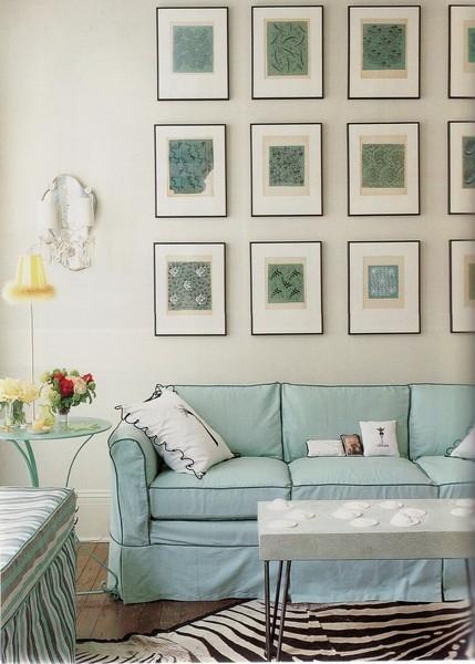 Simple Details: framed wallpaper as artwork