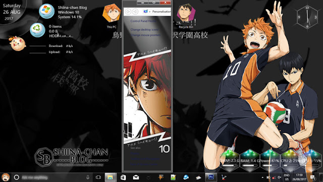 Windows 10 Ver. 1703 Theme Haikyuu!! by Enji Riz